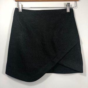 Topshop asymmetrical glitter sparkle skirt